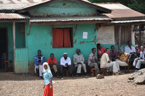Straßencafé in Sombo, Copyright Ekkehart Schmidt-Fink