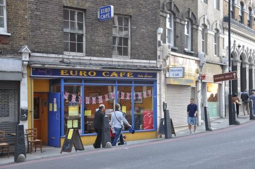 Caffs in London, King's Cross Rd,  Copyright Ekkehart Schmidt-Fink