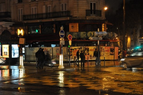 Metro Vavin im Regen © Ekkehart Schmidt
