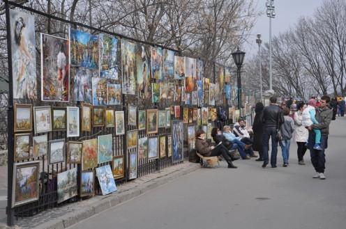 Der Kitschbildermarkt von Kiew © Ekkehart Schmidt