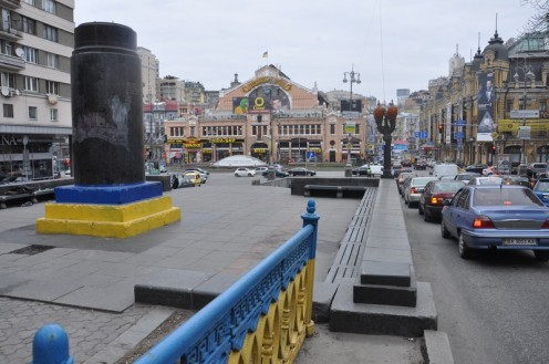 Lenins Sockel in Kiew © Ekkehart Schmidt