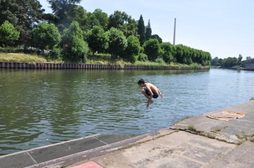 Schwimmen in der Saar? Natürlich! © Ekkehart Schmidt