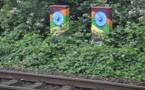 Düsseldorfer Bahndammgraffitis © Ekkehart Schmidt