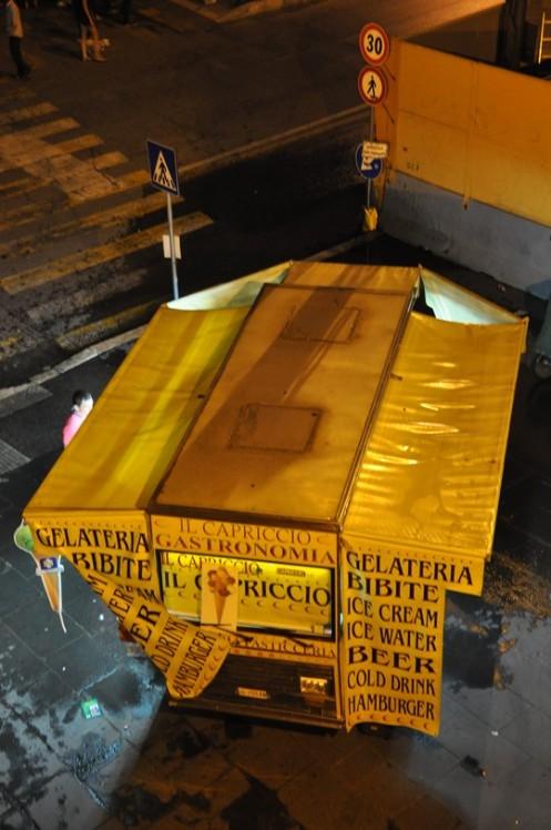 Mobile Händler in Rom: Divieto di parcchegio © Ekkehart Schmidt