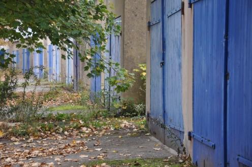 Die blauen Garagen von Habsterdick © Ekkehart Schmidt