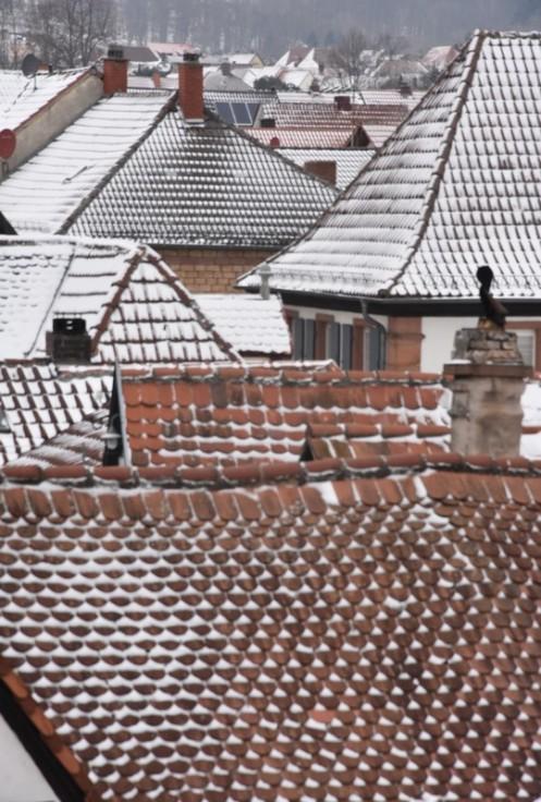 Versuch über die Rhodter Dächer und den Schnee © Ekkehart Schmidt