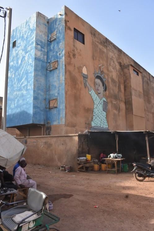 Die Freiheitsstatue von Ouagadougou © Ekkehart Schmidt